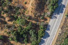 Overhead View of Asphalt Road Stock Images