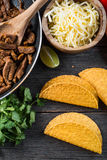 Overhead view on authentic mexican street taco Royalty Free Stock Photo
