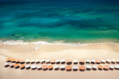 Overhead view of beach Stock Images