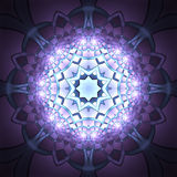 Overhead view of beautiful purple symmetrical art Royalty Free Stock Images
