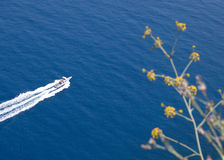 Overhead view of a boat Royalty Free Stock Images