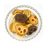 Overhead view bowl cookies Royalty Free Stock Photos