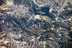 Overhead view of Brussels, Belgium Royalty Free Stock Photos