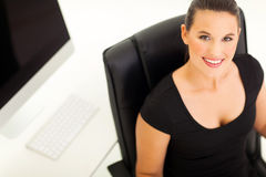 Overhead view businesswoman Royalty Free Stock Image