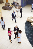 Overhead View Of Busy Hospital Reception royalty free stock photo
