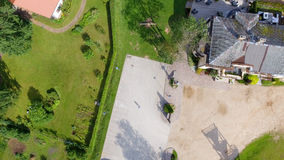 Overhead view of city square.  Royalty Free Stock Photo