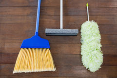 Overhead view of cleaning hand tools Stock Images