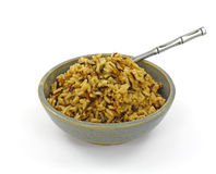 Overhead View Cooked Long Grain Rice Royalty Free Stock Photography