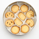 Overhead view, Cookies in a circle Stock Image