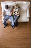 Overhead View of Couple on Love Seat Stock Images