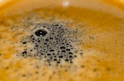 Overhead view of a cup espresso coffee Stock Photos