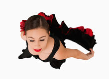 Overhead view of dancing woman Royalty Free Stock Photo