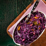 Overhead view of delicious red cabbage Stock Photography