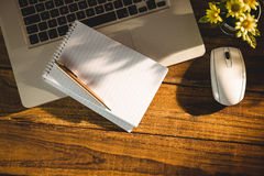 Overhead view of an desk Royalty Free Stock Photos