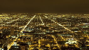 Overhead View of Downtown Chicago - Time Lapse stock video footage