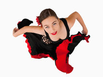 Overhead view of female dancer Royalty Free Stock Image