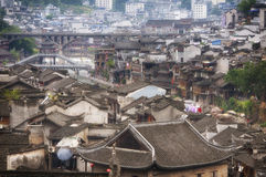 An overhead view of Fenghuang Town Stock Images