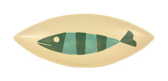 Overhead view fish platter Royalty Free Stock Image