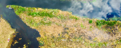 Overhead view of Florida Everglades Swamp - USA Royalty Free Stock Photo