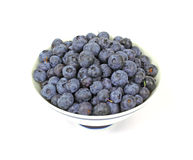 Overhead View Fresh Blueberries Royalty Free Stock Images