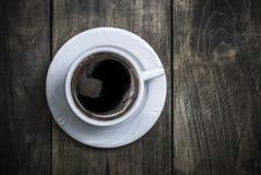 Overhead view of a freshly brewed mug of  black  coffee Stock Photo