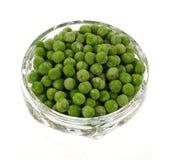 Overhead View Frozen Peas Stock Image