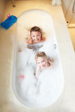 Overhead View Of Girls In Bath Royalty Free Stock Photography