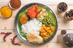 Overhead view of Indian mixed rice Royalty Free Stock Images