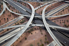 Overhead view of major interchange Stock Image