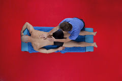 Overhead view of massage royalty free stock image