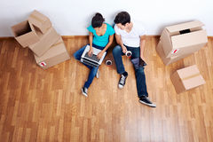 Overhead View Moving In Stock Photography