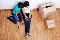 Overhead View Moving In Stock Image