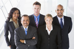Overhead view of office staff Stock Images