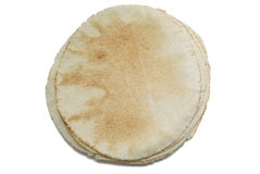 Overhead view of pita bread Royalty Free Stock Photos