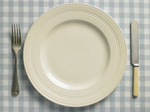 Overhead View Of Place Setting Royalty Free Stock Images