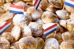Overhead view of poffertjes with powdered soft sugar Stock Image