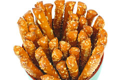 Overhead View Pretzel Sticks Royalty Free Stock Photography