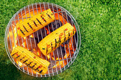Corn on the cob on a barbecue Royalty Free Stock Images
