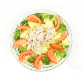 Overhead view salad Stock Photos