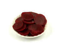 Overhead view sliced beets Stock Images