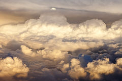Overhead view of storm clouds Stock Photography