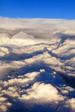 Overhead view of storm clouds Stock Photo