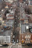 Overhead view of a street in Charlestown Royalty Free Stock Images