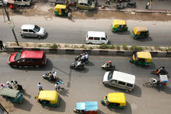 Aireal Delhi India. Overhead view of the streets of Delhi India Stock Photos