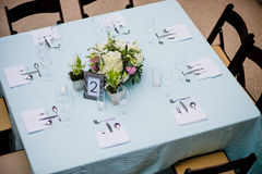 Overhead view of table Royalty Free Stock Image