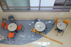 Overhead View of Tables and Chairs Stock Image