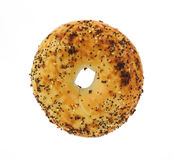 Overhead View Top Seasoned Bagel Royalty Free Stock Photography