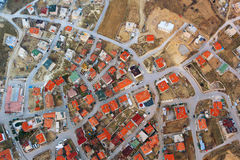 Overhead view of town in Cappadoccia Royalty Free Stock Image