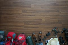 Overhead view of Traveler accessories Royalty Free Stock Image