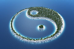 Yin and Yang tropical island Stock Photos